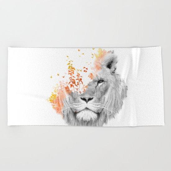 If I roar (The King Lion) Beach Towel