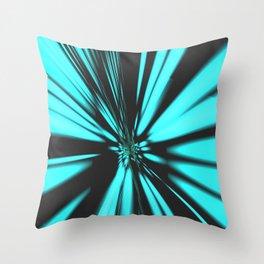 Zoom warp speed start fast effect Throw Pillow