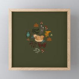 Chickens Framed Mini Art Print