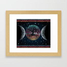 Autumn Esoteric Triple Moon V2 Framed Art Print