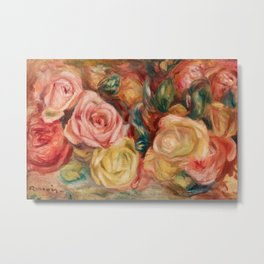 Pierre-Auguste Renoir - Roses Metal Print