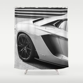 Italian Sports Car Shower Curtain