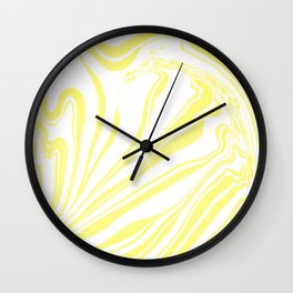 Yellow Marble Ink Watercolor Wall Clock