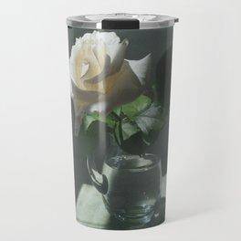 White Rose Translation Travel Mug