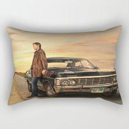 Dean and Impala Rectangular Pillow