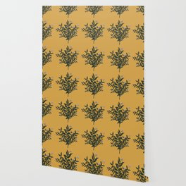 Citrus Branch Pattern Wallpaper