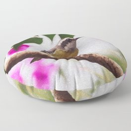 Bird - Photography Paper Effect 008 Floor Pillow