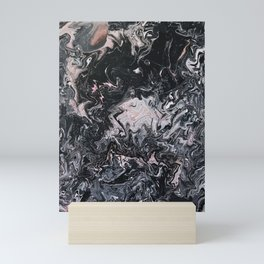 Pink & Black Pour Mini Art Print