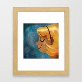 Sun On Her Face Framed Art Print