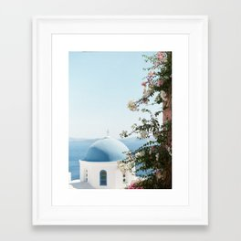 Santorini, Greece Framed Art Print