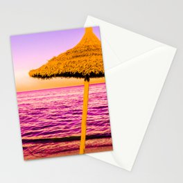 Pop Art Beach Umbrella Stationery Cards