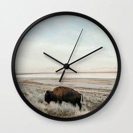 Bison of Antelope ISland Wall Clock
