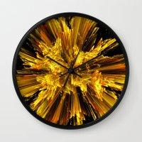 big bang Wall Clocks featuring Big Bang by Art-Motiva