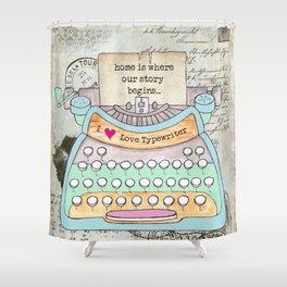 Typewriter #4 Shower Curtain