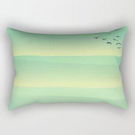 Birds in the evening sunset Rectangular Pillow