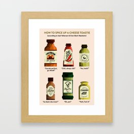 SKAM: How to spice up a cheese toastie Framed Art Print