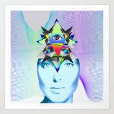 Psychedelic Woman Art Print