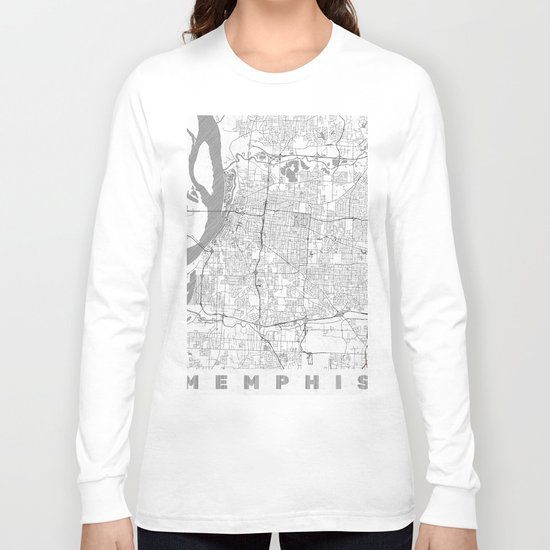 Memphis Map Line Long Sleeve T-shirt