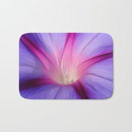 Lilac and Fuschia Morning Glory in Macro Bath Mat