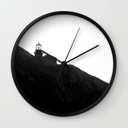 Point Sur Lighthouse in Black and White Wall Clock