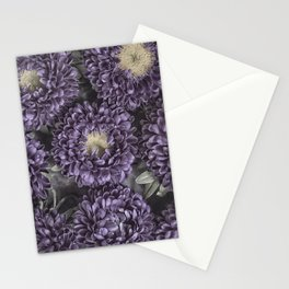 Metallic Purple Mums on a Metal Background Stationery Cards