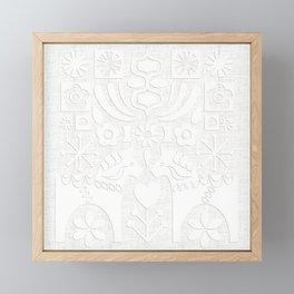 Swedish Folk Art - Subtle Framed Mini Art Print