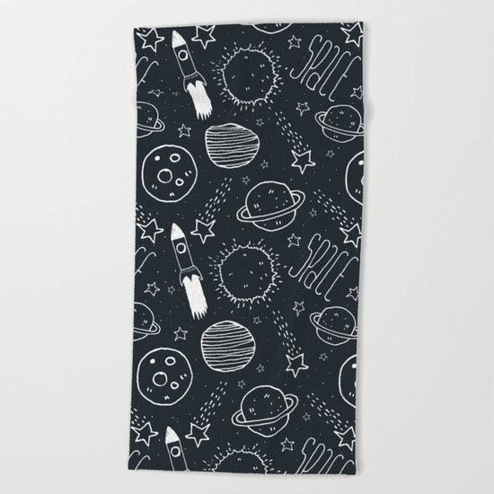 Space Doodles Beach Towel