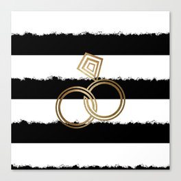 Gold Wedding Rings Canvas Print