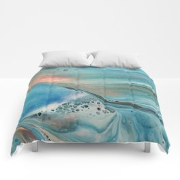 Pearl marble abstraction Comforters
