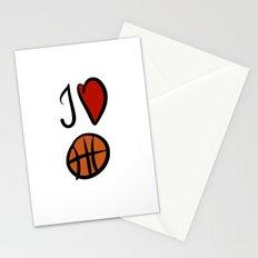 I love basketball  Stationery Cards