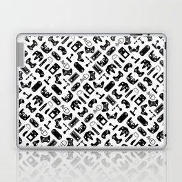 Control Your Game - Black on White Laptop & iPad Skin