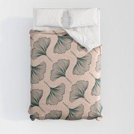 Diagonal Gingko Leaves Comforters