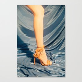 Stocking and High Heel Canvas Print