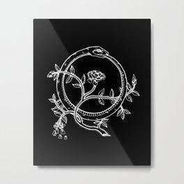 White Ouroborous  Metal Print