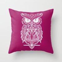 merlin Throw Pillows featuring Merlin by curlie