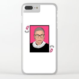 Queen of Dissent Clear iPhone Case