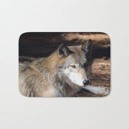 The Eyes of a Wolf Bath Mat