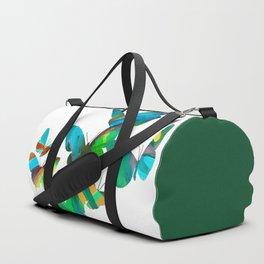 Green Butterflies Duffle Bag