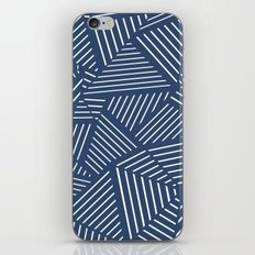 Abstraction Linear Zoom Navy iPhone Skin