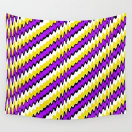 Purple gold white and black slur 2 Wall Tapestry