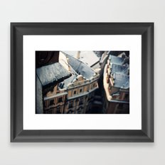 Looking down on Old Town Framed Art Print