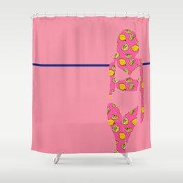 Lemon Pop Beach Escape Shower Curtain