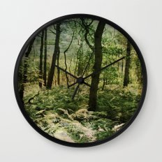Woodland trees Wall Clock