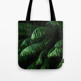 Lush green palms Tote Bag