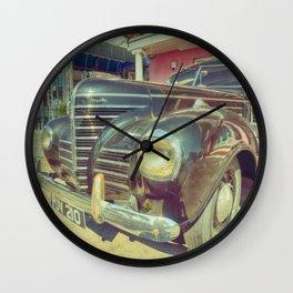 Retro Vintage Chrysler in Color Wall Clock