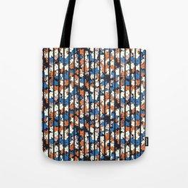 Flower + Vertical Stripe : TM17063 Tote Bag