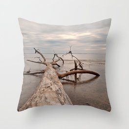 Dead Tree Bay Throw Pillow