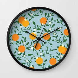 Valencia Oranges Wall Clock