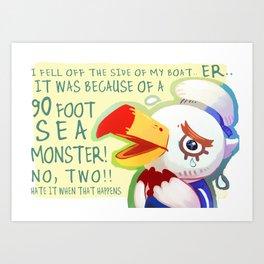Animal Crossings Gulliver! Art Print