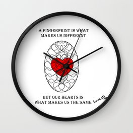 Fingerprints Wall Clock